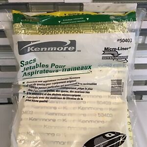 10 Sears Kenmore Micro Liner Disposable Vacuum Bags, Fits Model #'s shown in pic