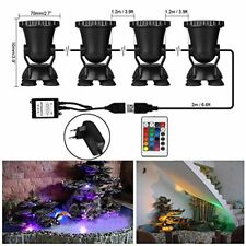 Onever LED Underwater Spotlight Kit avec Télécommande | 4pcs Multicolor RGB aq