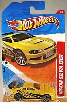 Yellow w//10Sp S15 2011 Hot Wheels #187 Thrill Racers-Highway 1//6 NISSAN SILVIA