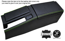GREEN STICH CENTRE CONSOLE & ARMREST LEATHER COVERS FOR HONDA CRX DEL SOL 92-98