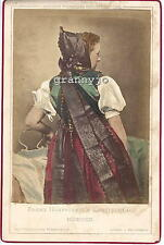 1858 Hand Colored Cabinet Photograph by Franz Hanfstangl Munchen # 21 Costume