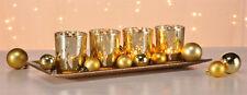 4 Set Titulaire Tea Light , Chandelier Couronne de l'Avent chandelier avec bol