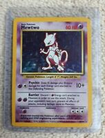 Mewtwo Holo Pokemon Card, 10/102, Base Set, Rare, Wizards, WOTC