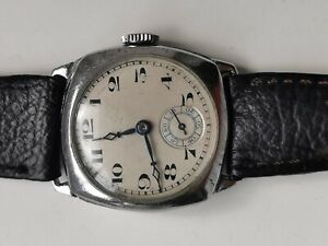 MENS VINTAGE Cal. 128 SWISS MADE MANUAL WIND 15 JEWELS TRENCH WATCH SPARES REP