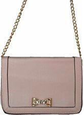 Gorgeous Designer Pink With Detachable Side Shoulder Clutch Gold Chain