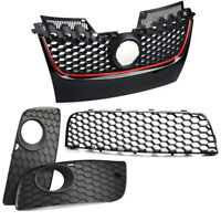 Front Bumper Center Lower Grille Fog Light Grill Fits For Vw Golf Jetta MK5