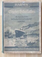 Lehrbuch  Harms Schüler-Atlas Karten 1938 Stadtpläne Europa Deutsche Kolonien
