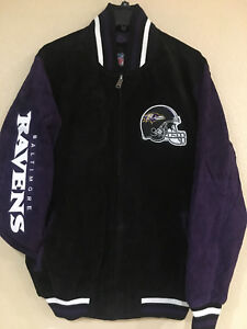 Baltimore RAVENS Men's Suede Jacket by G-III - NFL Licensed