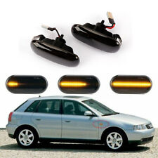 Pair LED Smoked LED Side Marker Signal Light for Audi A4 A8 S4 B6 B7 A6 C5 TT