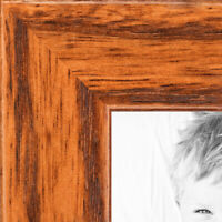 """ArtToFrames Picture Frame Custom 1/""""  Yellow Rustic Wood 4432 Small"""