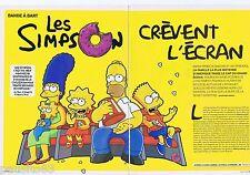 COUPURE DE PRESSE CLIPPING 2007 Les Simpsons crèvent l'écran   (6 pages)