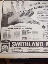M621 Ephemera Advert 1980s Swithland Motors Gordon Banks Save Again