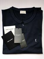 SAINT LAURENT Paris Herren Polo-Shirt dunkelblau Gr.XL  NEU
