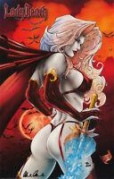 Lady Death Print, Art by Mike DeBalfo (11x17) Comic Art