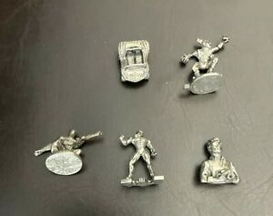 Monopoly Spiderman Marvel Edition  5 Replacement Pewter Tokens Pieces