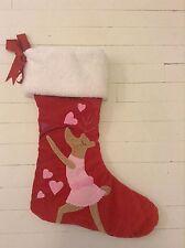 New Pottery Barn Kids~ Cupid~Red Velvet Reindeer Christmas Stocking Sherpa VHTF