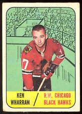 1967 68 TOPPS HOCKEY #117 KEN WHARRAM VG CHICAGO BLACK HAWKS