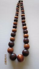 Total Length Adjustable Necklace Africa Wood Beads 21""