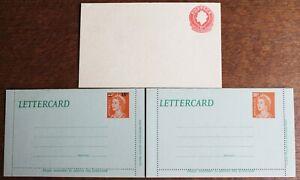 Australia PSCs Lettercards 10c, 18c & PSE – QE2 10c – All Mint (Se8)