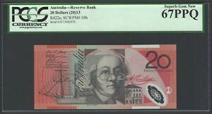 Australia 20 Dollars (2013) P59h Uncirculated Graded 67