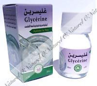 Glycérine Végétale 100% Pure & Naturelle 30ml Glycerin, Glicerina