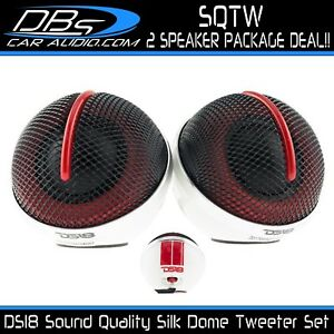 DS18 SQTW Silk Dome Tweeter Set 120W Max Sound Quality Tweeters with Crossovers