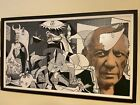 """"""" Picasso's Guernica"""" Silkscreen, by Steve Kaufman signed numbered Museum framed"""