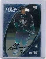 2002-03 Be A Player Signature Series #184 Alexei Smirnov NM-MT Rookie Card Ducks