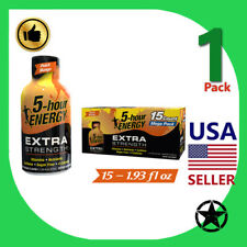 1 Pack 5-Hour Energy Extra Strength Peach Mango 15 Count