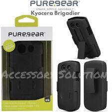 PureGear Kyocera Brigadier E6782 Case Cover W/ Kickstand Holster Black, 60859PG
