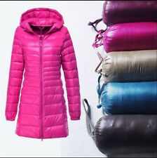 Plus Size Winter Women Ultralight Long 90% Down Hooded Jacket Puffer Parka Coat
