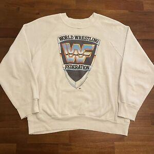 VTG WWF Crewneck Sweatshirt 1985 Wrestlemania Hulk Hogan Ric Flair Rowdy Roddy