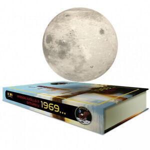 Globe Lune en lévitation sur base livre - MOONFLIGHT 1969