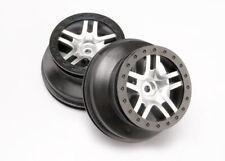 Traxxas 6872 Chrome/Black SS Split-Spoke Wheels (2) 2.2/3.0: F&R Slash 4x4 6808