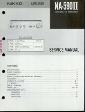 Original Factory Nikko NA-590II 2 Stereo Amplifier Amp Service Manual
