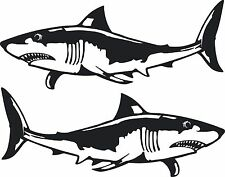 Shark Stickers 2 x 300 x 120 Quality Stickers made for the outdoors