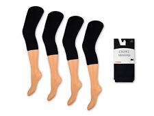 1 bis 4 Damen Capri Leggings Schwarz 150 DEN Blickdicht 3/4 Leggins