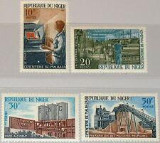 NIGER 1966 141-44 180-83 Cement Works Factory Zementwerk Malbaza Industry MNH