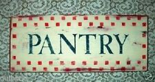 Primitive Sign PANTRY Checks Adorable Kitchen Sign