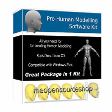 Simulation And Modelling Software Kit Of The Human Body 3D Model And 3D Scan