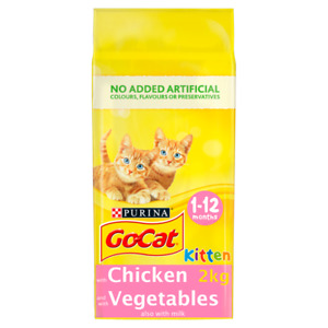Go Cat Kitten Chicken Milk & Veg Dry Cat Food FREE NEXT DAY DELIVERY