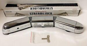 Schylling Streamliner Three Car Wind-Up Train Toy Metal Tin With Box Key Retro