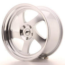 4x JAPAN RACING JR15 18x8.5 18x9.5 ET40 5x114.3 Machined Silver Alloy Wheels
