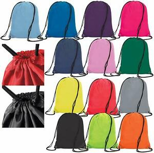 Multi-Buy Premium Drawstring Bag Sports Gym Sack Swim School PE Kit Shoe Bags