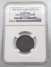 UNITED STATES HALF CENT 1806 SMALL 6 NO STEMS GRADED #p54 113