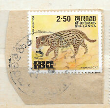 Sri Lanka 1981 - posted 23 October - OP Fishing Cat stamp on paper - see scan