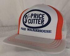 Vtg Price Cutter Food Warehouse Trucker Hat Snapback White Mesh Grocery