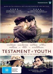 Testament Of Youth (DVD, 2015), NEW SEALED AUSTRALIAN RELEASE REGION 4