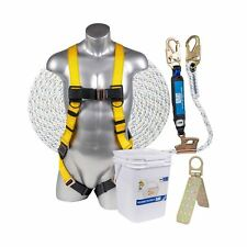 Ateret Fall Protection Roofing Bucket Kit I Full Body Harness 50 Vertical R