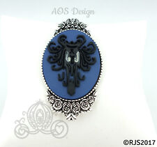 Victorian Cameo Brooch Pin Jewelry Creepy Wallpaper Haunted Mansion Halloween